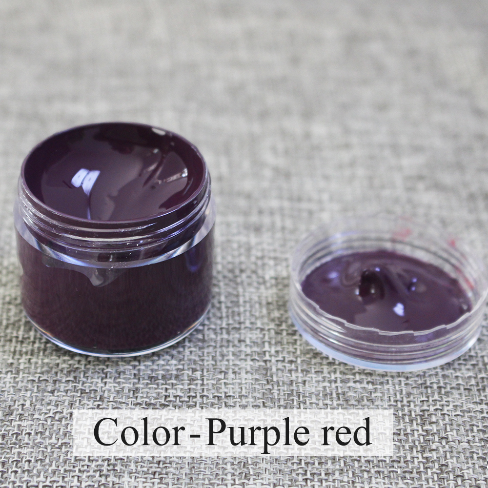 Purple Red Leather Paint Kit Auto Car Seat Sofa Coats Holes Scratch Cracks Rips Liquid Leather Restoration Complementary Color