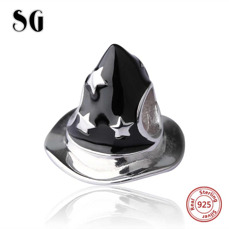 SG אופנה קסם קסמי חרוזים 925 כסף סטרלינג חג המולד אביזרי כובע חרוז לפנדורה צמיד diy תכשיטי ביצוע