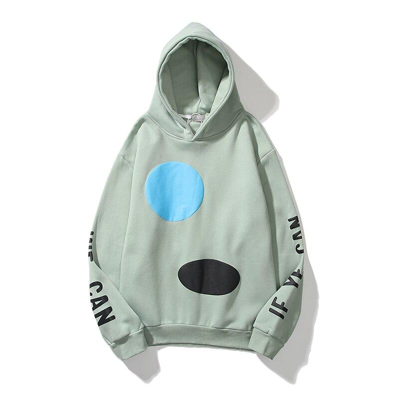 Jesus is King If You Can Letter Print Fleece Hoodies Sweatshirt  1