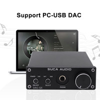 DAC Decoder SUCA DAC Q5 Headphone Digital Audio Amplifier HiFi Optical Audio / Coaxial / USB DAC Q5 Decoder with AMP
