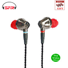 SENFER DT6 1BA + 1DD Hybrid In EarหูฟังHIFI DJวิ่งกีฬาหูฟังหูฟังพร้อมไมโครโฟนที่ถอดออกได้สายขั้วMMCX x6 PT25 DT8 T2