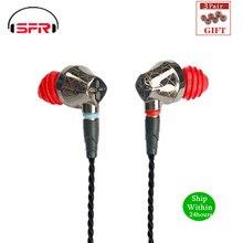 SENFER DT6 1BA + 1DD hybrydowy w uchu słuchawka hi fi DJ Running sport słuchawki douszne słuchawki douszne z mikrofonem odłączany kabel MMCX X6 PT25 DT8 T2