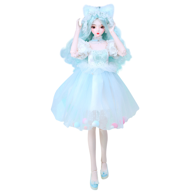 1/3 BJD Joint Body with makeup include outfit shoes hair and Gift box gift toys ICY,SD