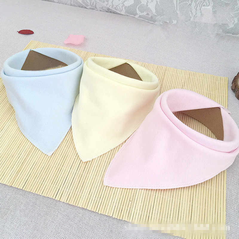 New 1PC 3 Colors Baby Bibs For Bandana Burp Cloth Print Triangle Cotton Baby Scarf Meal Collar Baby Accessories