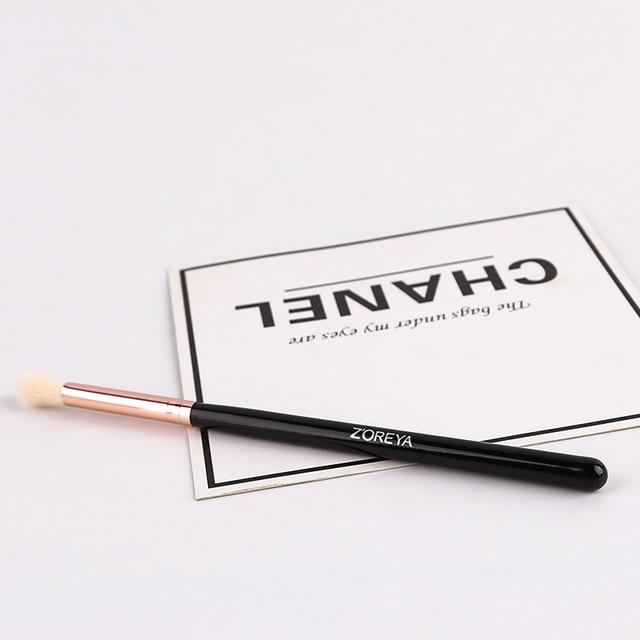 zoreya Brand Black Crease Makeup Brushes Soft Synthetic Hair Portable Eye Makeup Set Travel Cosmetic Brush For Make Up 2