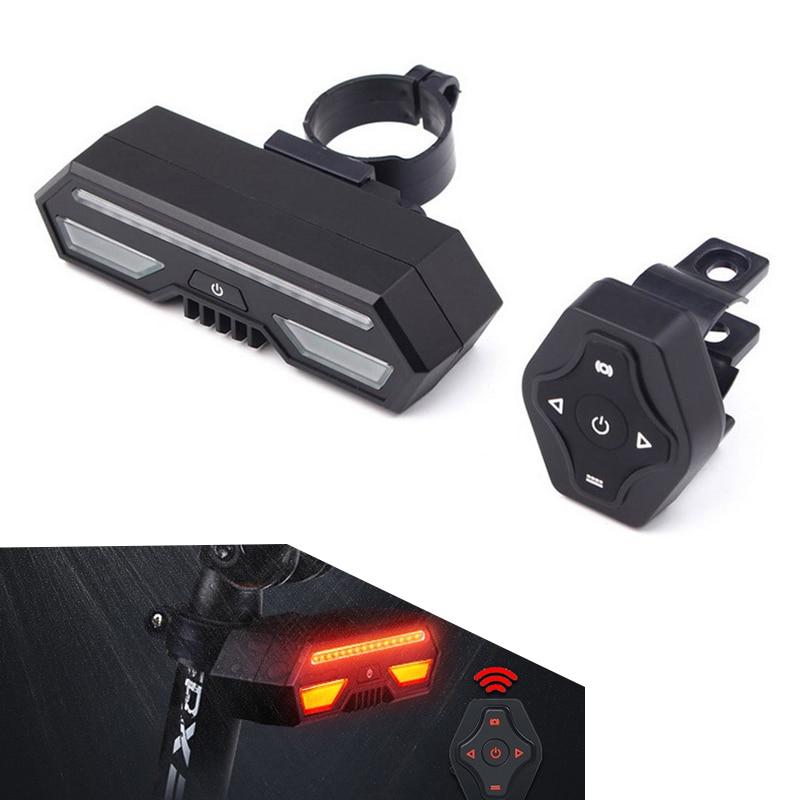 XANES STL14 Bike Bicycle Taillight Turn Signal Warning USB Waterproof Tail Light Cycling Lamp Cycling Lantern Torch Spotlights