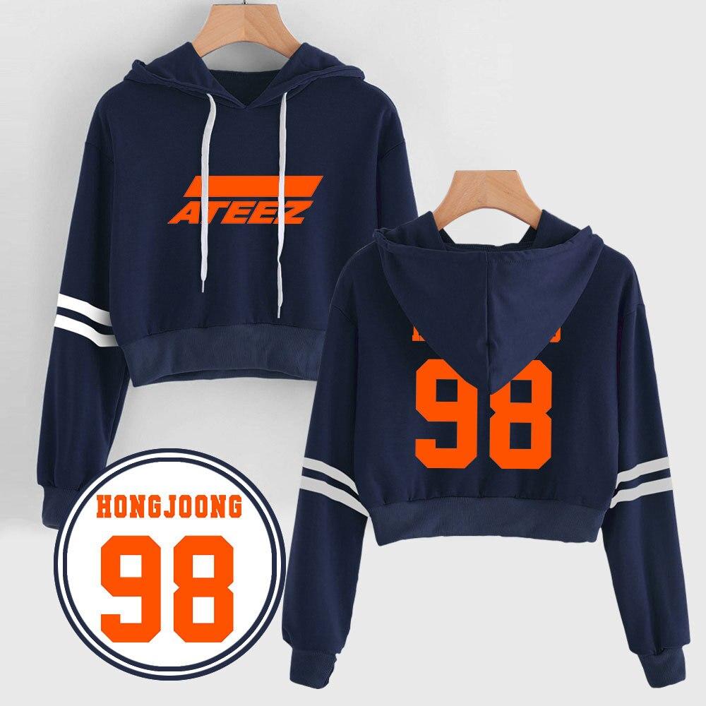 New Kpop ATEEZ Printed Hoodie Casual Sweatshirts Hooded Pullover Loose Sweaster