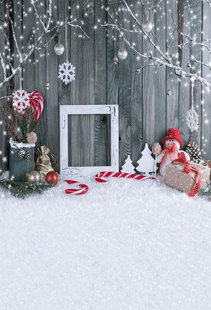 OFILA Winter Christmas Backdrop 8x12ft Rustic Wood Photos Background Winter Snow Photos Xmas Decoration Kids Christmas Photo Booth Xmas Party Decoration Studio Props