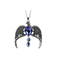 Eagle Diadem Blue Crystal Bridal Crown Lost Diadem of School of Witchcraft and Wizardry slytherin Pendant Necklace Boys Girl(China)
