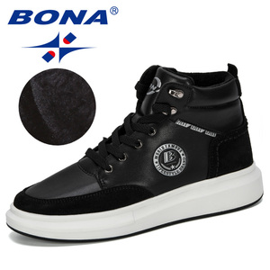 Image 3 - BONA 2019 New Designer High Top męskie buty wulkanizowane Trend wygodne męskie obuwie Outdoor antypoślizgowe buty Tenis Masculino