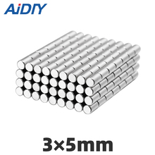 AIDIY 30/100/200 pcs 3x5mm  disc rare earth neodymium magnet N35 Super strong magnets round magnetic cylinder 3 * 5mm