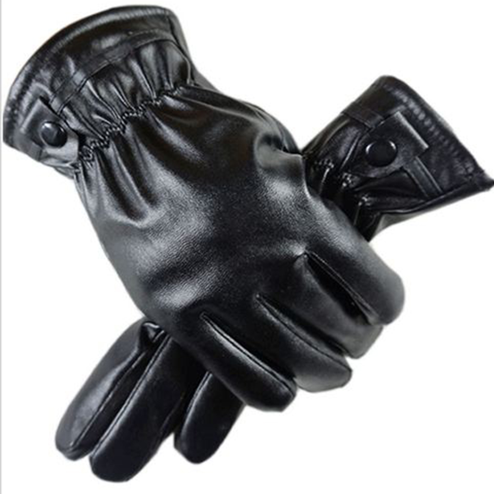 Phones Tablets Screen Ing Mitten PU Leather Gloves Winter Coral Fleece Ing Screen Gloves
