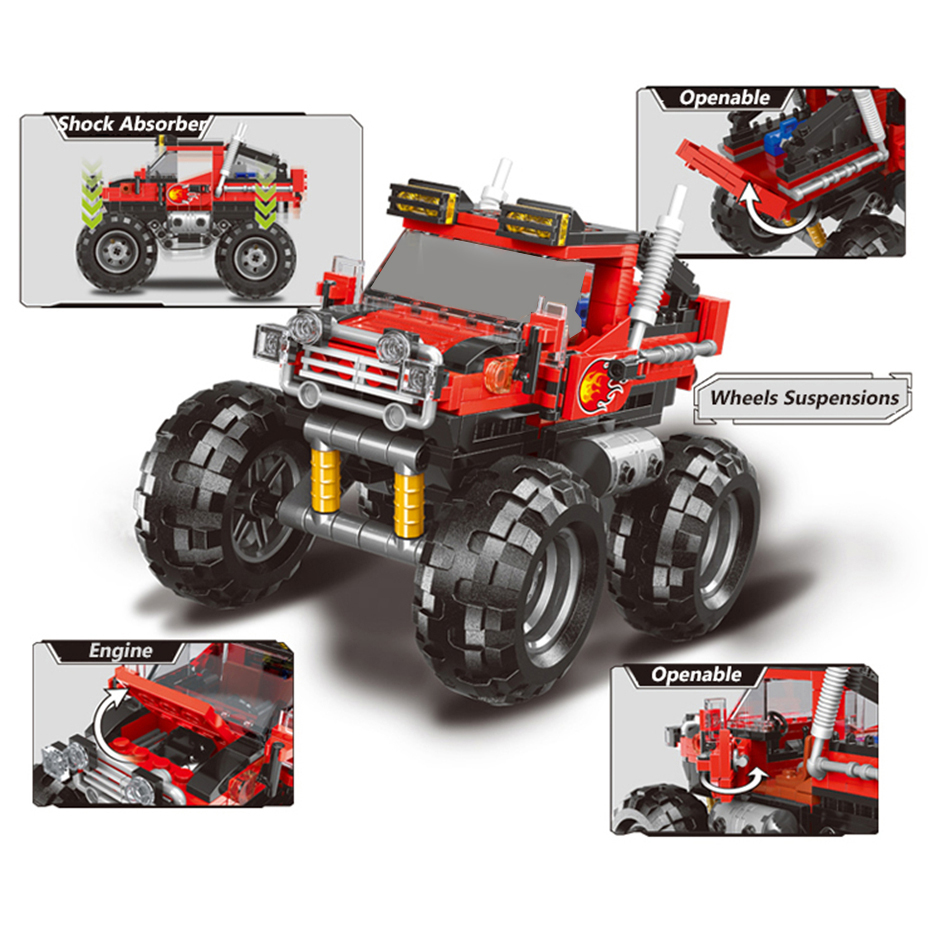 XINGBAO-03025-TECHNIC-Car-Series-Super-Big-Foot-Car-Building-Blocks-Bricks-Off-Road-Truck-Model (1)