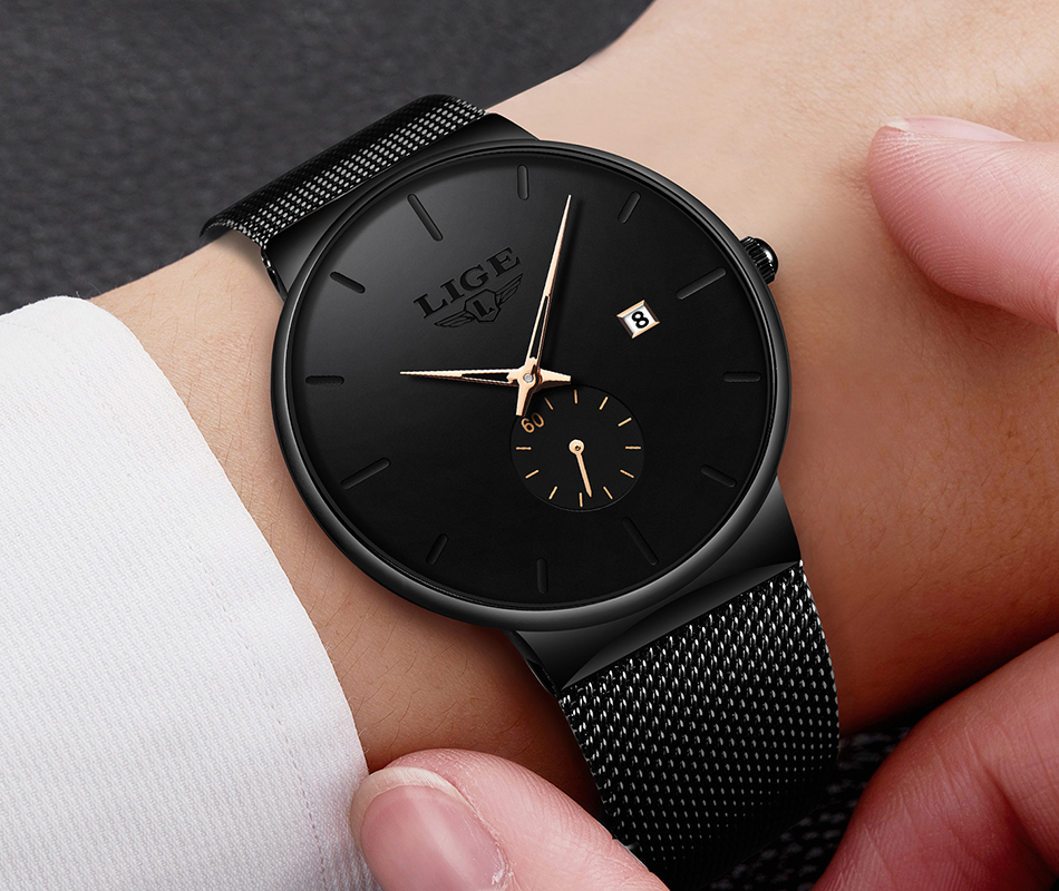 Hb8f938597fe5444ebd825e9d0341477bD New LIGE Mens Watches Casual Fashion Gift Men Watch Business Waterproof Quartz Watch Full Steel Clock Relogio Masculino+Box
