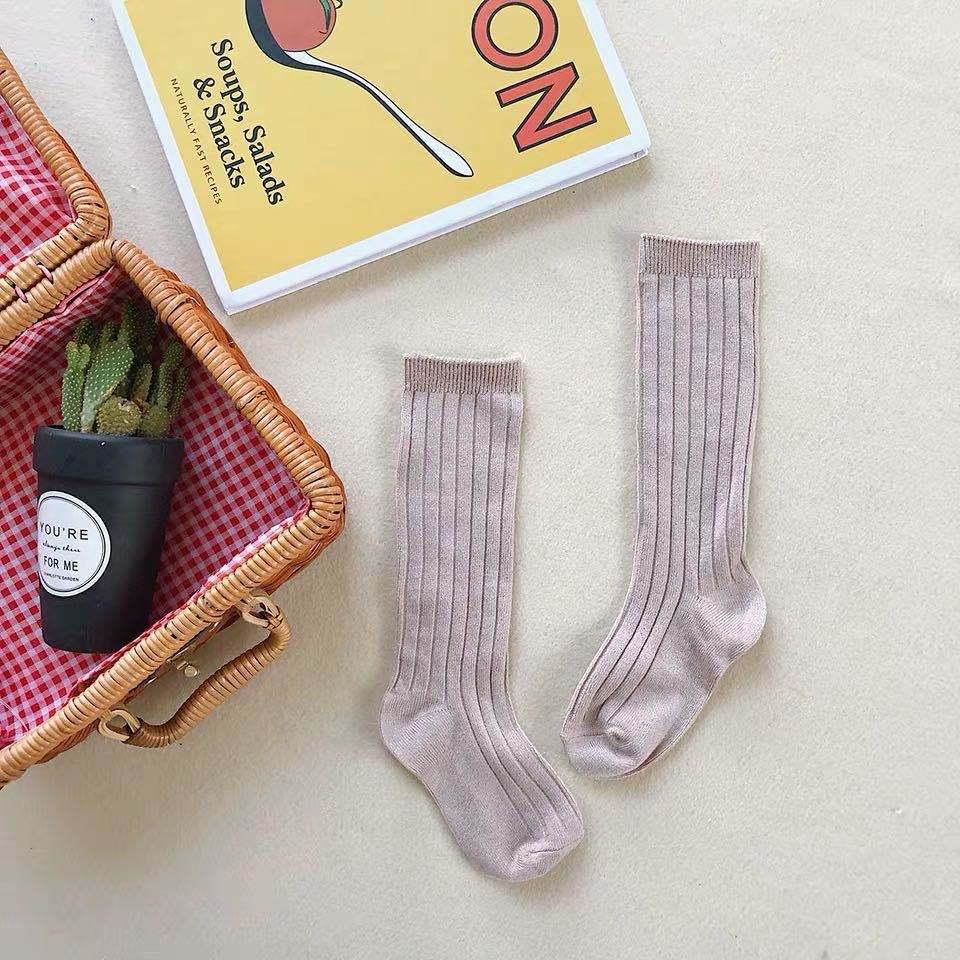 Весенние ребристые детские носки высокое качество новинка вязаные