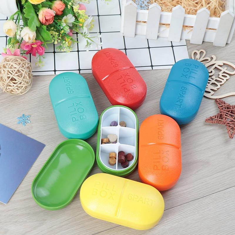 4/6 Slots Moisture-proof  Travel Pill Box Organizer Tablet Medicine Storage Dispenser Holder Health Care Tool 3
