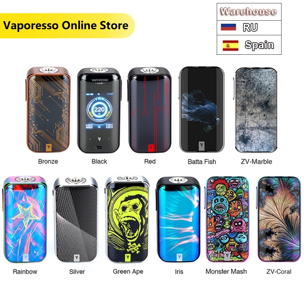 Original 220W Vaporesso LUXE <font><b>Mod</b></font> <font><b>Vape</b></font> Box <font><b>Mod</b></font> Power By Dual <font><b>18650</b></font> Battery Compatible with 510 Pin Atomzier image