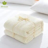 Beste Verkauf Flanell Fleece Decke Soft Reise Decken Einfarbig Bettdecke Plüsch Abdeckung für Bett Sofa Warme Weiche Bettlaken-in Wurf aus Heim und Garten bei