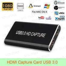 HDMI Scheda di Acquisizione Video USB 3.0 per Notebook Finestre/Linux/Mac HDMI a USB 3.0 scheda di Acquisizione