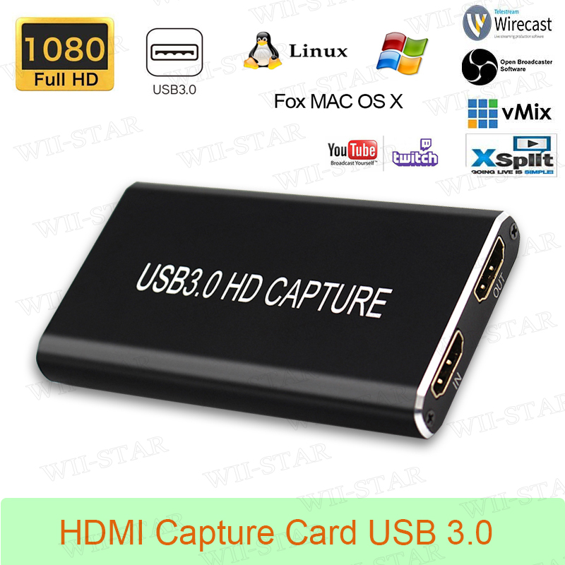 Video de Hdmi para o Computador Hdmi à Captura de Usb 3.0 do Cartão de Captura Portátil Windows Linux Mac 3.0 Usb –