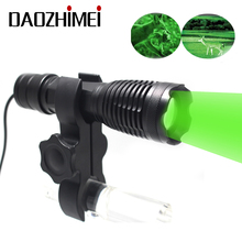 1000LM LED Flashlight Zoom Stretch Hunting Light IR /White/ Green Red/ Spotlight +Remote Pressure Switch +Gun Mount
