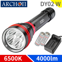 ARCHON DY02W WY08W 4000 lumen diving lighing flashlight dive flashlight Underwater 100m waterproof torch dive lighting lamp