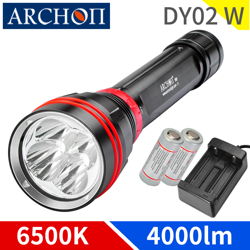 ARCHON DY02W WY08W 4000 lumen diving lighing flashlight dive flashlight Underwater 100m waterproof torch dive lighting lamp