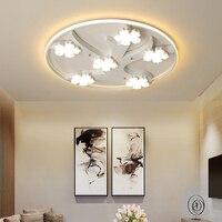 Flor de ameixa led lustres teto para sala jantar sala estar cama ferro + acrílico moderno led lustre lamparas techo