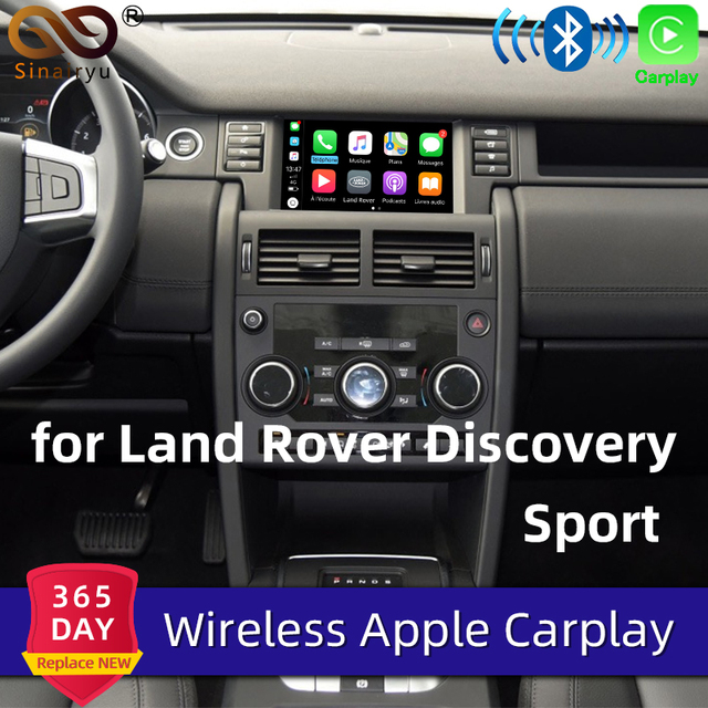 Sinairyu Apple Carplay inalámbrico para coche Land Rover/Jaguar Discovery Sport f pace Discovery 5, Android, Auto Mirror, Wifi, iOS13