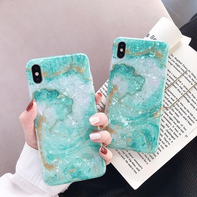 Noble Blink Light Blue Phone Case for iPhone XS Fitted Silicone Case for iPhone XS Gift for Women Girls 6