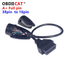 38pin completo a 16pin conector obd2 para b-en-z 38 pinos obd2 16 pinos cabo fêmea do conector do adaptador 38pin para m-cer-des