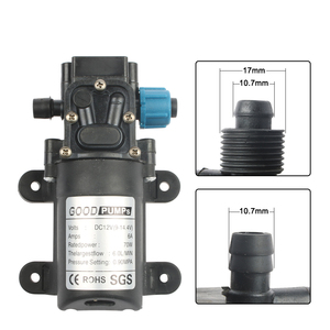 Image 3 - Micro Elektrische Membran Wasserpumpe DC12V24V 70W Hochdruck Auto Waschen Spray Wasser Pumpe 0,9 Mpa 6L/min