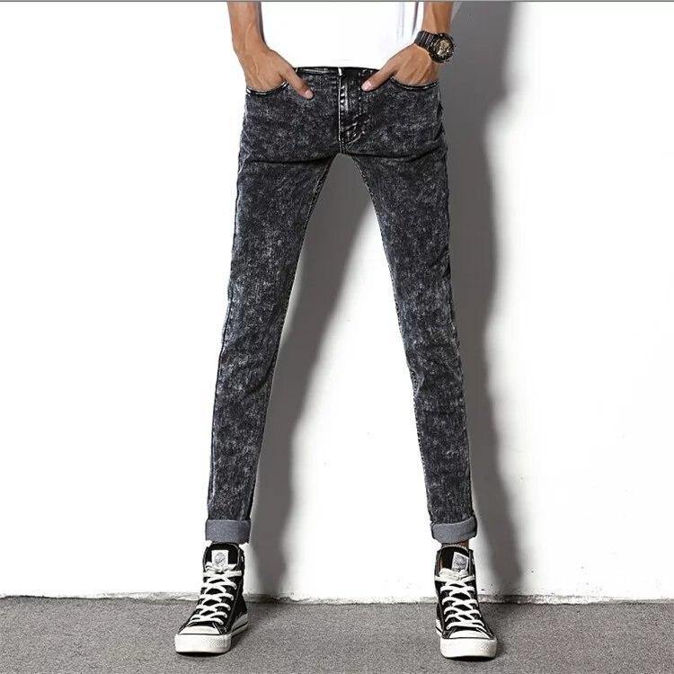 Autumn & Winter New Style Men's Jeans Men's Trousers Slim Fit Pants Korean-style Elasticity Casual Black Plus Velvet Men's Trous