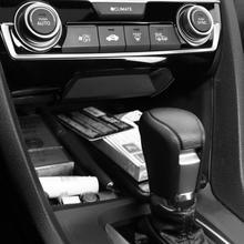 Автомобильный Центральный ящик для хранения ABS с USB портом запасной лоток для Honda Civic 16-19