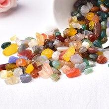50g/100g cristal naturel gravier spécimen améthyste décor à la maison coloré pour Aquarium guérison pierre roche minérale noël bricolage cadeau