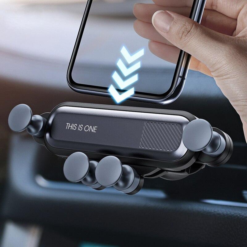 GETIHU gravité Support pour téléphone voiture évent pince de montage pas de Support Mobile magnétique Support de cellule pour iPhone X Xiaomi Smartphone dans la voiture