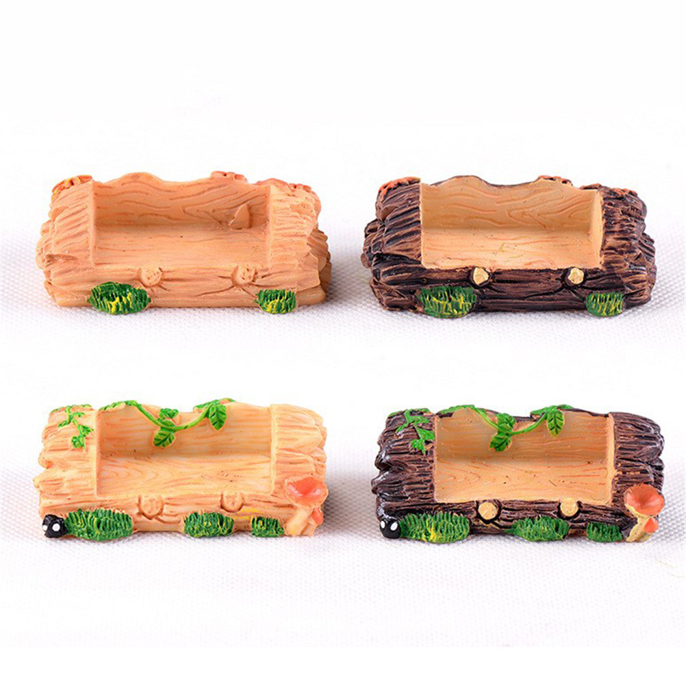 DIY Accessories Wooden Stool Stump Bench Chair Figurines Resin Crafts Micro Garden Fairy Miniature Furniture Toys