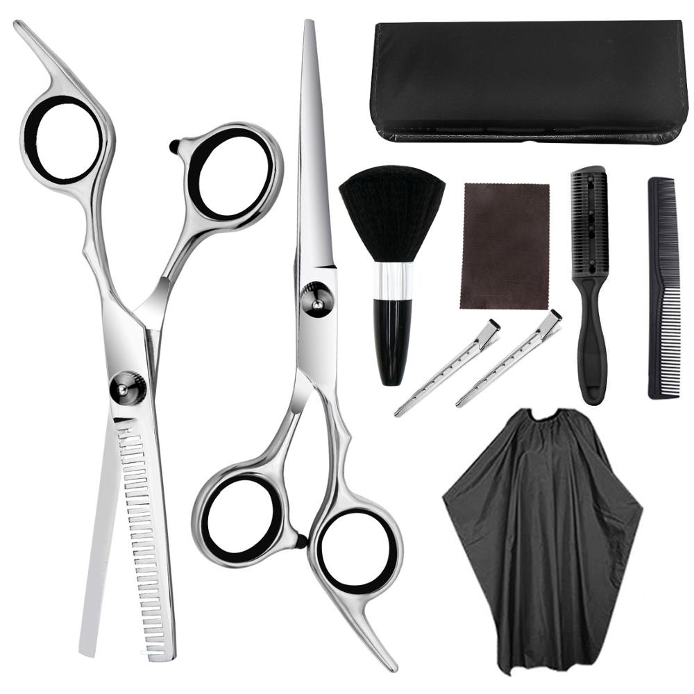 Professional Hairdresser Scissors Set Hair Scissors Hairdressing Thinning Scissors Hair Cutter Comb For Salon Barbers Use
