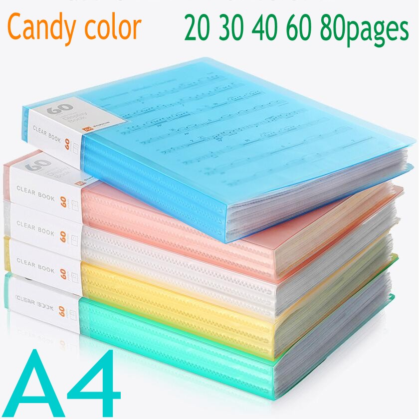 A4 File Folder Information Book Paper Clip Folder Student Folders Bag Multi-Layer Transparent Document Folder A4 Office Supplies