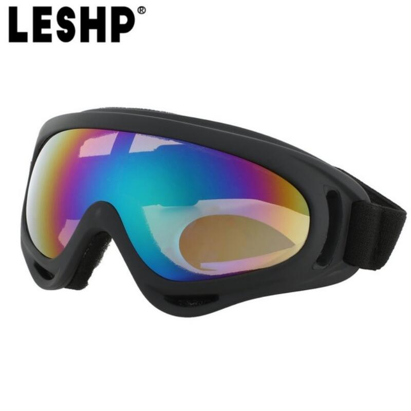 LESHP Outdoor Skiing Protective Goggles Bendable Windproof Ski Cycling Glasses Fog-proof Skiing Goggles With Elastic Headband