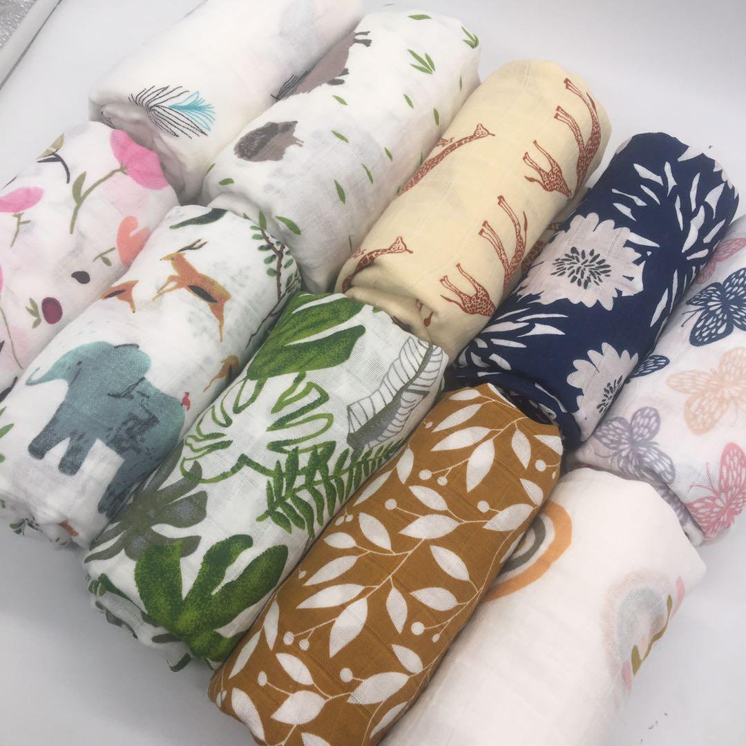Детское Хлопковое одеяло, пеленка для новорожденных, муслиновый подгузник, полотенце, 120 х110 см 1