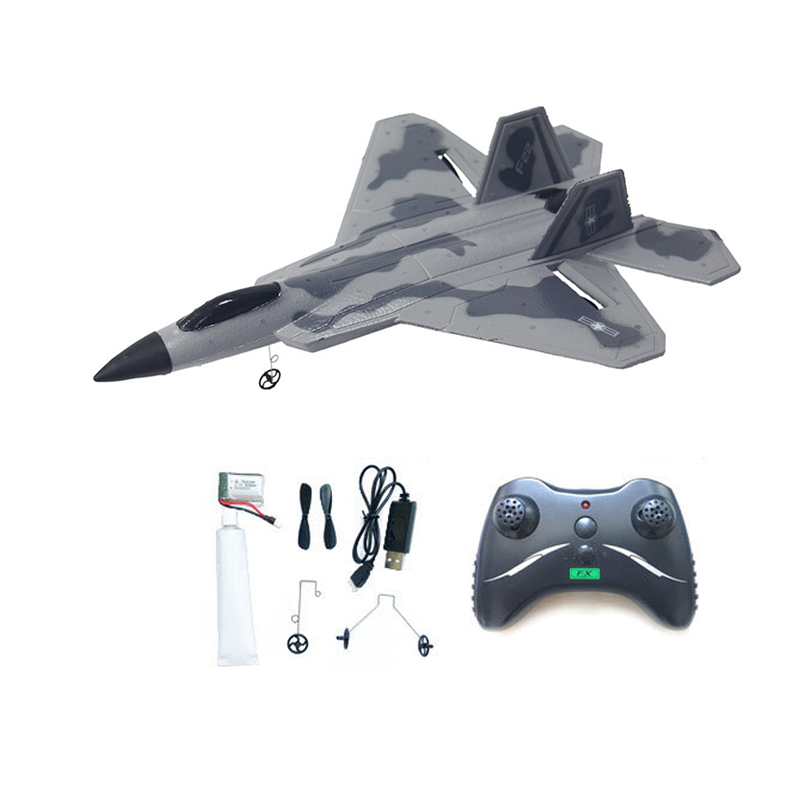 F22 2.4GHz EPP RC Fighter Control Glider Ruggedness Inertial Foam Airplan Toy Aircraft Model Outdoor Education Toys