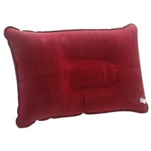 Double Sided Cushion flocking inflatable pillow Suede Fabric Camping Tourism Outdoor office Plane Folding Portable hotel red win(China)