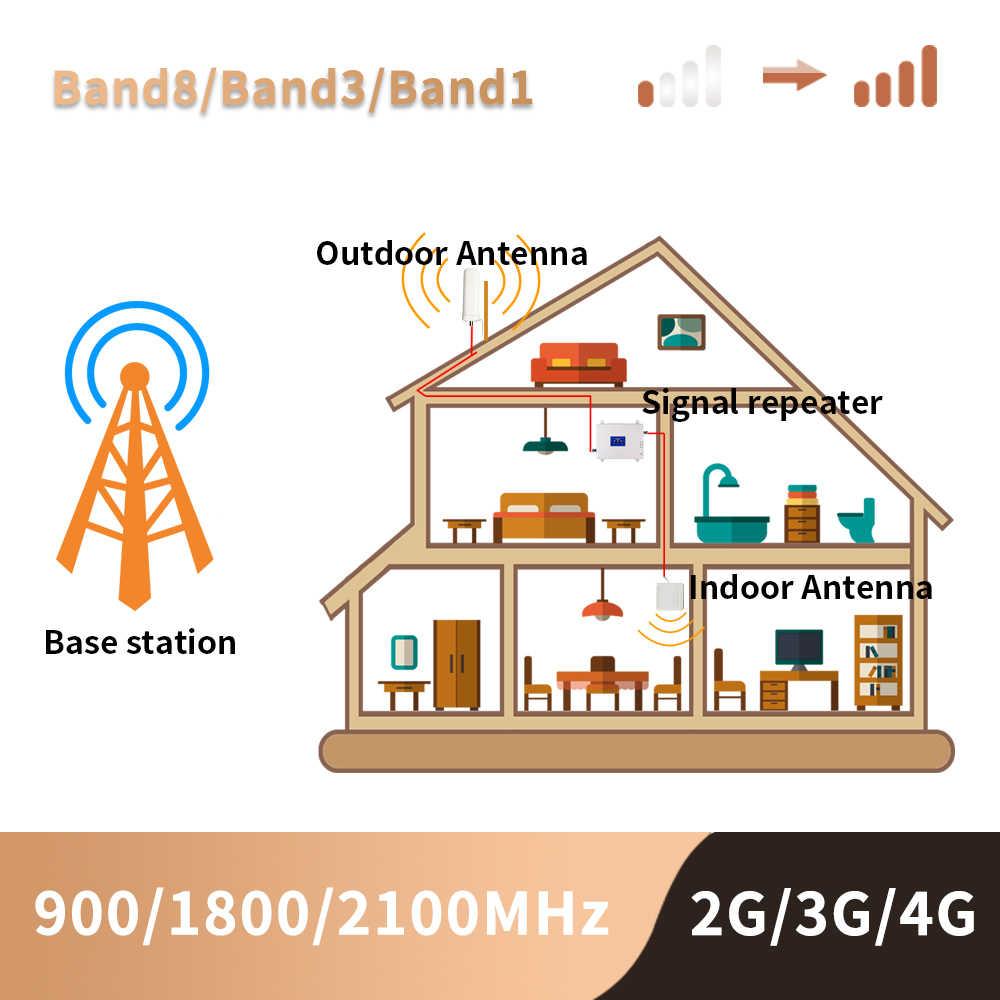 2g 3g 4g усилитель сотового сигнала Gsm трехдиапазонный мобильный усилитель сигнала LTE сотовый ретранслятор GSM DCS WCDMA 900 1800 2100 комплект