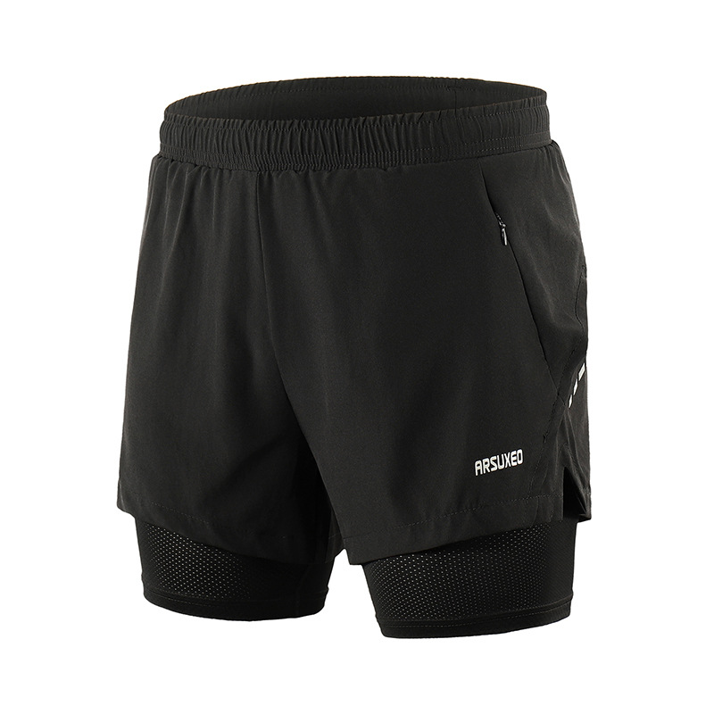 <font><b>Men's</b></font> <font><b>2</b></font> <font><b>In</b></font> <font><b>1</b></font> <font><b>Running</b></font> <font><b>Shorts</b></font> <font><b>Mens</b></font> <font><b>Sports</b></font> <font><b>Shorts</b></font> Quick Drying Training Exercise Jogging Cycling <font><b>Shorts</b></font> With Longer Liner image