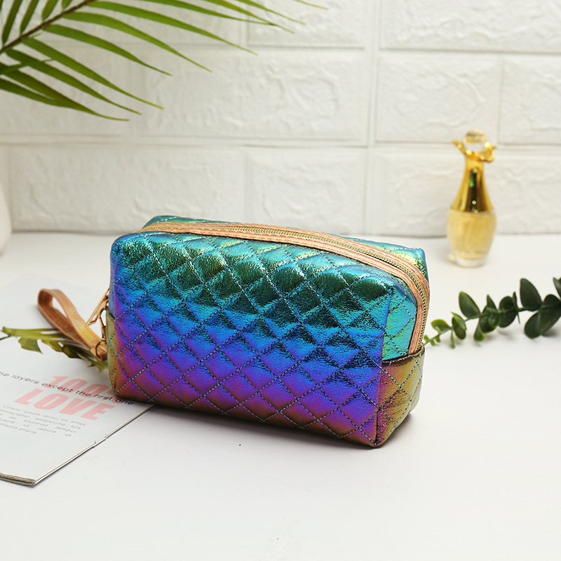 Mermaid Laser Cosmetic Bags Flap Holographic Women Men Travel Wash Storage Bags Organizer Makeup Cases Beauty Toiletry Kit Wash