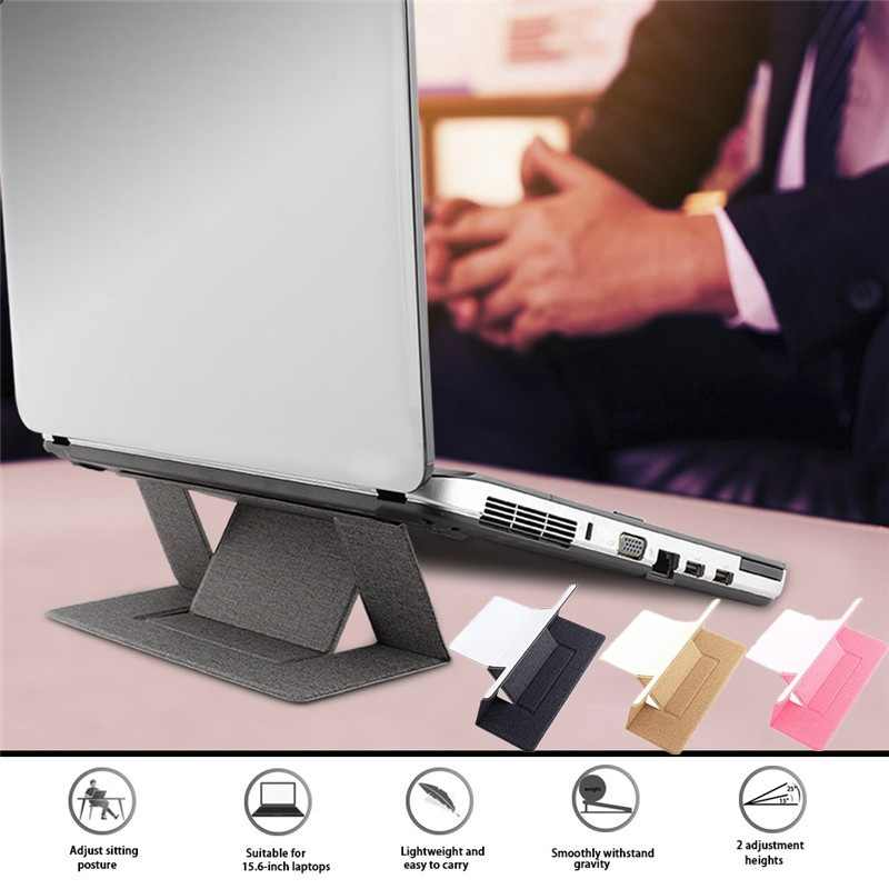 Black 2019 New Portable Lightweight Computer Stand for MacBook Invisible Adjustable Laptop Stand up to 15.6 Laptop with Two Elevation Adjustments iPad
