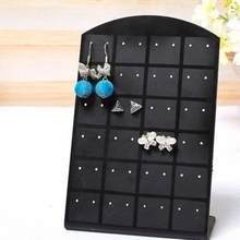 24/48/72 Holes Plastic Jewelry Earrings Organizer Holder Display Stand Rack Earrings Storage Box Utility Jewelry Display stand(China)