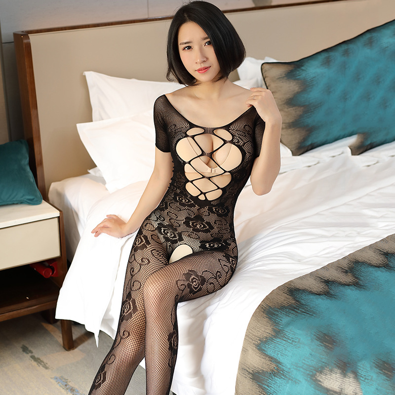 Sexy Lingerie Woman Fishnet Bodystockings Erotic Lingerie Crotchless Babydoll Hot Sex Costumes Open Crotch Full Body Pantyhose 4