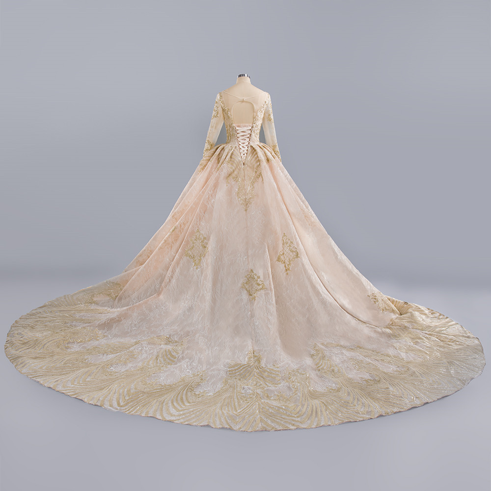 Luxury-Vestido-De-Novia-Lace-Up-Lace-Beading-Wedding-Dress-2019-Appliques-Scoop-Illusion-Criss-Cross (1)